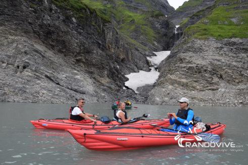 Un week-end de Juin 2020 – Le lac d'Emosson en Canoë – Alt 1900m