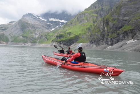 27 & 28 Juillet 2019 – Le lac d'Emosson en Canoë – Alt 1900m