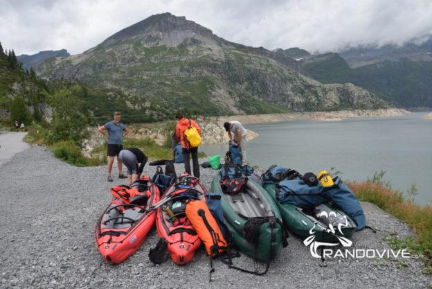 Un week-end en 2020 – Le lac d'Emosson en Canoë – Alt 1900m