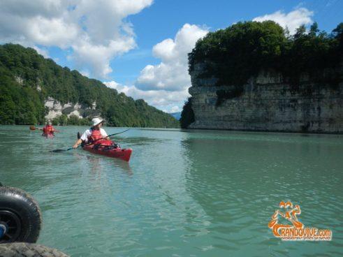 TOPO Rhône – Le barrage de Genissiat sur le Rhône – 14Km