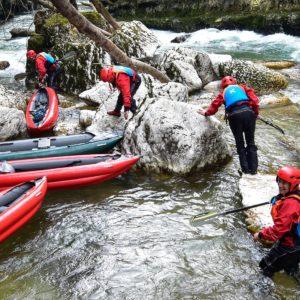TOPO 2021 La Valserine – Barrage de Metral jusqu'au Rhône – 2 Km